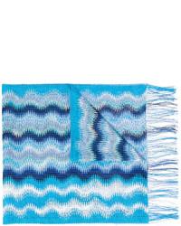 Bufanda de punto en turquesa de Missoni