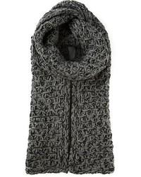 Bufanda de punto gris de Dolce & Gabbana