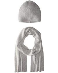 Bufanda de punto gris de Phenix Cashmere