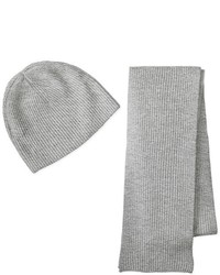 Bufanda de punto gris de Williams Cashmere