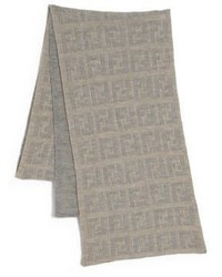 Bufanda de punto marrón claro