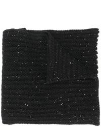 Bufanda de punto negra de Nude