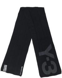Bufanda de punto negra de Y-3