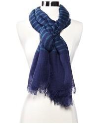 Bufanda de rayas horizontales azul marino