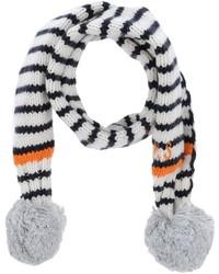 Bufanda de rayas horizontales blanca