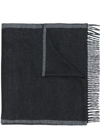 Bufanda de rayas horizontales en gris oscuro de Salvatore Ferragamo