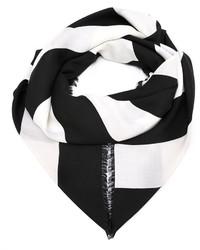 Bufanda de rayas horizontales en negro y blanco de Givenchy