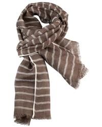 Bufanda de rayas horizontales marrón