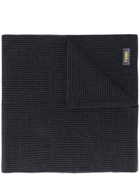 Bufanda de rayas horizontales negra de Fendi