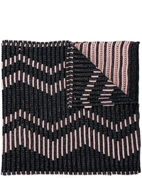 Bufanda de Rayas Horizontales Negra de M Missoni