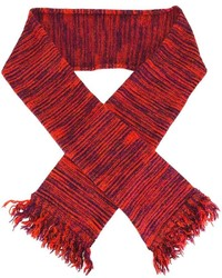 Bufanda de rayas horizontales roja