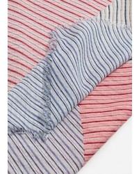 Bufanda de rayas horizontales rosada