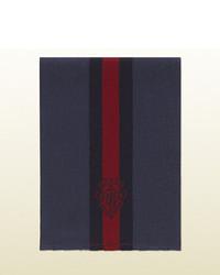 Bufanda de rayas verticales azul marino