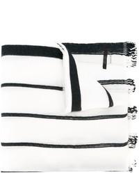 Bufanda de Rayas Verticales Blanca y Negra de Diesel
