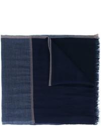 Bufanda de seda azul marino de Brunello Cucinelli