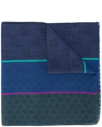 Bufanda de seda azul marino de Paul Smith