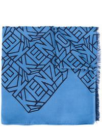 Bufanda de seda azul de Kenzo
