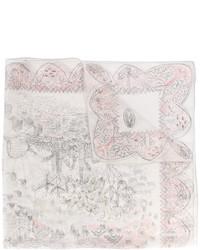 Bufanda de Seda Blanca de Valentino