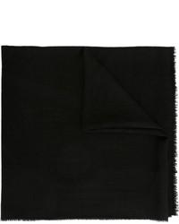 Bufanda de seda con print de flores negra de Chanel