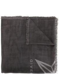 Bufanda de seda de estrellas en gris oscuro de Givenchy