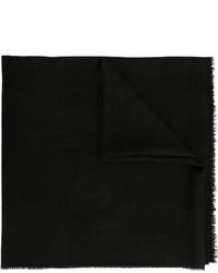 Bufanda de Seda de Flores Negra de Chanel