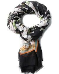 Bufanda de Seda de Flores Negra de Dolce & Gabbana
