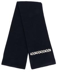Bufanda de seda de punto azul marino de No.21
