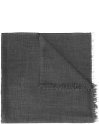 Bufanda de seda en gris oscuro de Brunello Cucinelli
