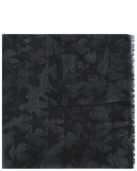 Bufanda de seda en gris oscuro de Valentino Garavani