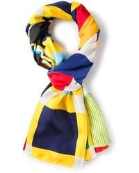 Bufanda de seda en multicolor de Pierre Louis Mascia