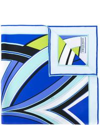 Bufanda de seda estampada azul de Emilio Pucci