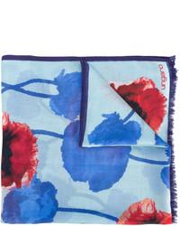 Bufanda de seda estampada celeste de Ungaro