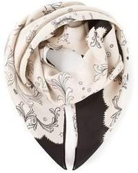 Bufanda de seda estampada en beige de Sharon Wauchob