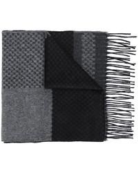 Bufanda de seda estampada en gris oscuro de Canali