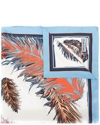 Bufanda de Seda Estampada en Turquesa de Emilio Pucci