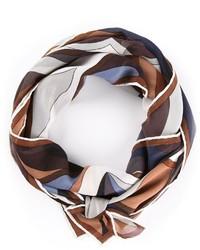 Bufanda de seda estampada marrón de Emilio Pucci
