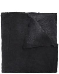 Bufanda de seda estampada negra de Avant Toi