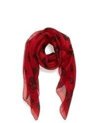 Bufanda de seda estampada