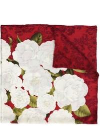 Bufanda de seda estampada roja de Chanel
