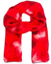 Bufanda de Seda Estampada Roja de Valentino