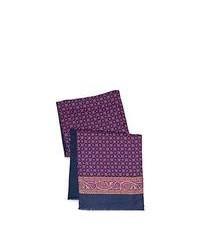 Bufanda de Seda Estampada Violeta