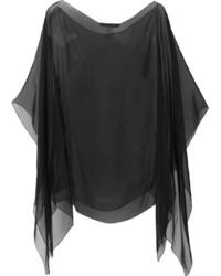 Bufanda de seda negra de Alberta Ferretti