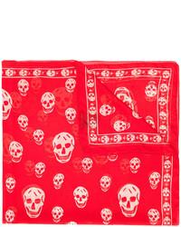 Bufanda de seda roja de Alexander McQueen