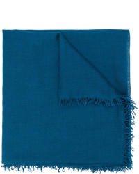 Bufanda de seda tejida en verde azulado de Faliero Sarti
