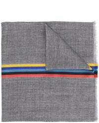 Bufanda de seda tejida gris de Paul Smith