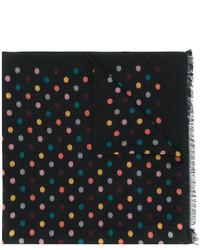 Bufanda de seda tejida negra de Paul Smith