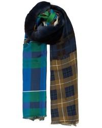 Bufanda de tartán en multicolor de Pierre Louis Mascia