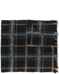 Bufanda de tartán negra de Dondup
