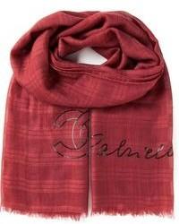 Bufanda de tartán roja de Chanel
