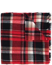 Bufanda de tartán roja de DSQUARED2